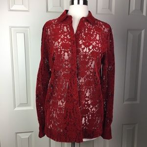 NWT DKNY Top in Scarlet Size P